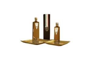 Exousia Gold water bottle