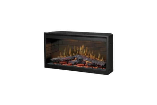 PuraFlame Klaus Electric Fireplace Insert with Glass Door