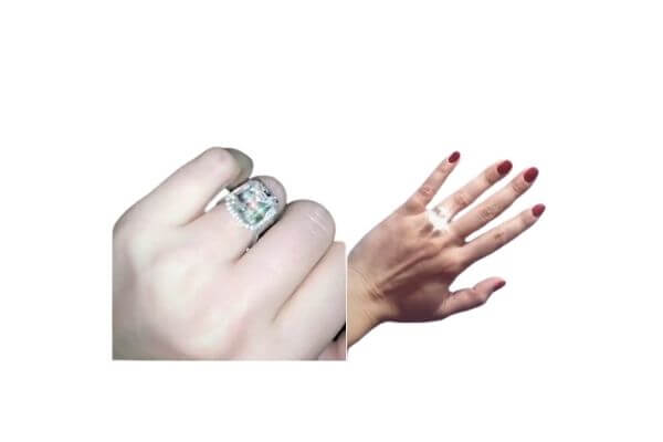 Alexa Dell's engagement ring from millionaire Harrison Refoua
