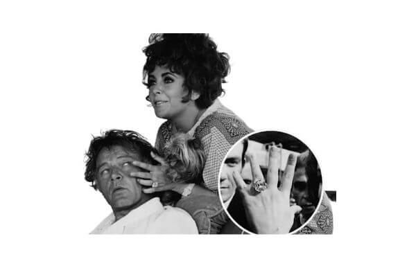 Elizabeth Taylor's engagement ring from her 5th and 6th husband